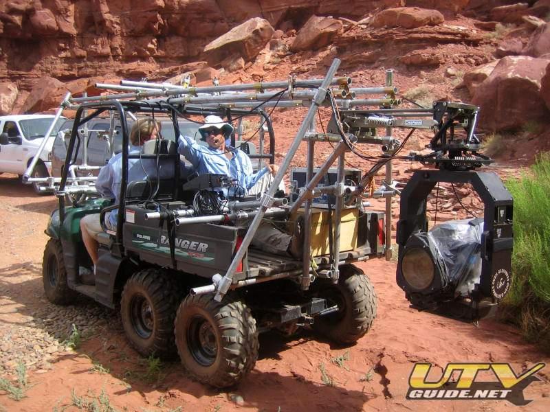Polaris Ranger 6×6 used as a Mobile Film Platform