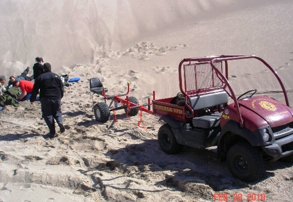 Nye County SAR Team Uses Kawasaki 610 Mule and All Terrain Res-Q Trailer to Perform Successful Off-Road Rescue at Nevada Sand Dunes
