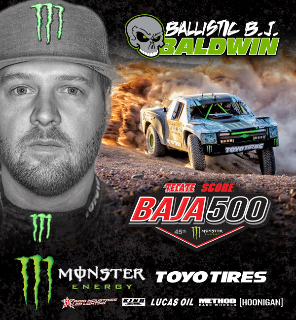 BJ Baldwin Anxious to Head Back to Baja for the 500