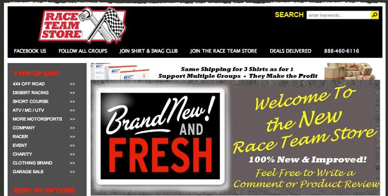 It's Time to Show Off the NEW Race Team Store!