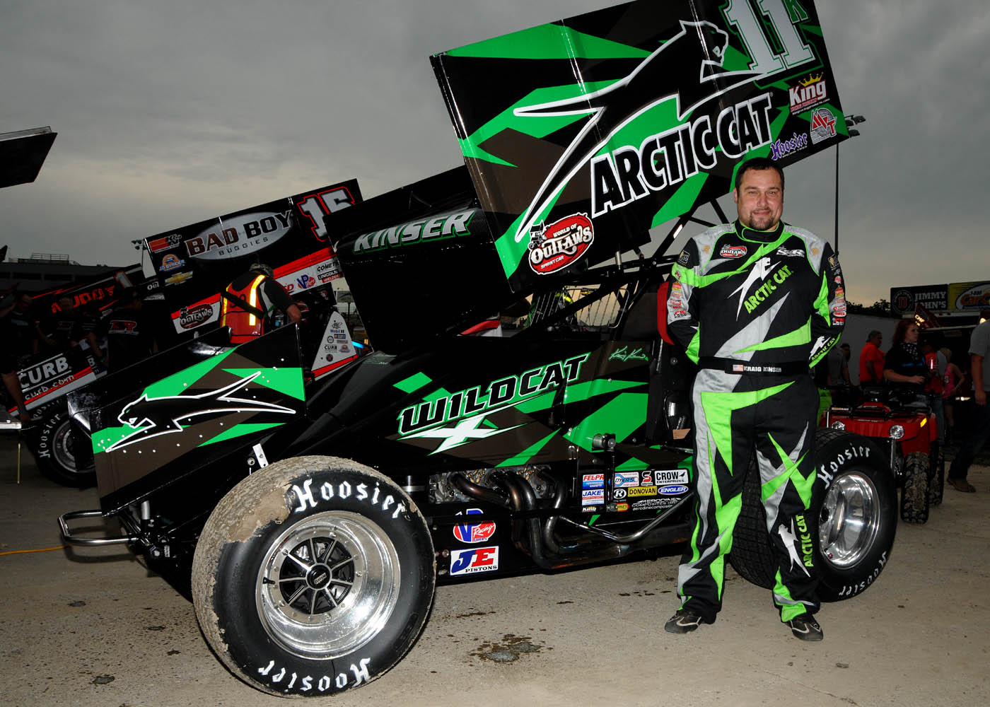 John Deere Race Car >> Arctic Cat Joins Steve Kinser Racing for Kings Royal, Knoxville Nationals and World Finals - UTV ...