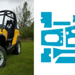 DEI Powersports Heat Shield Kit – Reduces Heat in Two Seater Can-Am® Commander™